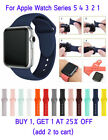 Silicone Band Strap For Apple Watch 1/2/3/4/5 iWatch Sports Series 38/42/40/44mm image