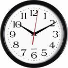 Bernhard Products Black Wall Clock Silent Non Ticking - 10 Inch Quality Quartz