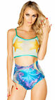 Womens Mesh Starfish Crop Top