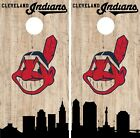 Cleveland Indians Cornhole Wrap MLB Game City Skyline Skin Vinyl Decal CO922 on Ebay
