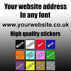 PERSONALISED WEB SITE ADDRESS VINYL STICKER DECAL CAR WINDOW LAPTOP SHOP BUMPER