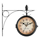 Hanging Coffee Bar Station Retro Garden Double Sided Battery Powered Wall Clock