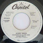 JERRY REED  COUNTRY'S ALIVE AND DOING WELL  NEAR MINT ORIGINAL PROMO  1986