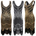 1920s Vintage Flapper Cocktail Party Evening Prom Club Sequin Tassel Long Dress