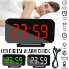 USB Electric Digital Alarm Clock Mirror LED Display Voice Control Table Clock