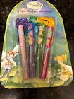 NEW Tinker Bell Disney Fairies Princess Writing Pens 4 Pack W Rope Tinkerbell