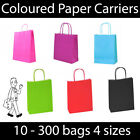 Bright Coloured Twist Handle Paper Carrier Bags Gift Christmas Birthday Party