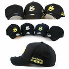 Unisex Mens San Diego Initial Letter S Spandex Baseball Cap Stretch Fit Hats