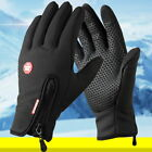 Universal Winter Windproof Gloves Full Finger Warm Bicycle Screen Riding Gloves@