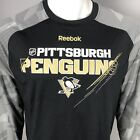 Pittsburgh Penguins Long-Sleeve Performance T-Shirt - Reebok Black Center Ice $22.98 USD on eBay