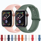 For Apple Watch Series 5 4 3 2 Sports Silicone Bracelet Band Strap 38/42/40/44mm image