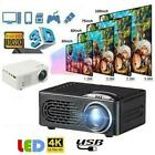 1080P 4K 7000LM LED Mini Projector Full HD Moive Home Cinema Theater