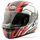 GMAX FF-49 Rogue Motorcycle Helmet White/Red