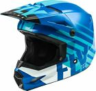 Fly Racing Kinetic Thrive Youth MX Offroad Helmet Blue/White