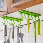 1pc 4 Colors Kitchen Rack Plastic Sticky Hook Wall Cabinet Ceiling Hanging Hook