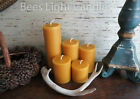 🐝 Handmade Beeswax Pillar Candles 100% Natural Honey Bees wax USA Unscented 🐝