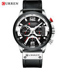 CURREN Casual Sport Watches for Men Blue Top Brand Luxury Military Leather Watch image