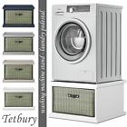 Tetbury washing machine stand with storage. Dryer pedestal with drawer.ASSEMBLED