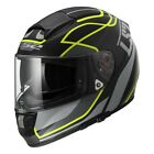 LS2 Citation FF397 Ventage Motorcycle Helmet Matte Black/Yellow