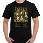 New Rare QUEEN T-SHIRT 50th Anniversary Freddie Mercury Guitar Size S to 2XL image