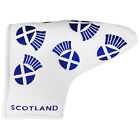 MD Golf Country Flag Blade Putter Headcover - Scotland Scottish Thistles New