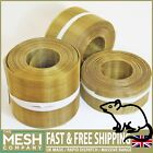 Pure Coarse Brass Soffit Rodent Airbrick Mesh (16 LPI x 0.375mm Wire) EXPRESS