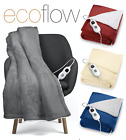 'Electric Heated Throw Over Blanket Super Soft Fleece Available In 3 Colours