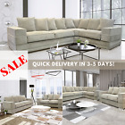CLEARANCE- PORTO Beige Corner L/H R/H or 3 Seater & 2 Seater Sets STOCK TO GO!