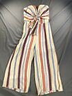Rue21 Women's Striped Jumpsuit V-Neck Colorful Strapless Multiple Sizes