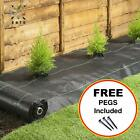 STRONG Weed Control Ground Cover Heavy Duty Fabric with FREE Pegs | 1m - 5m Wide