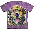 The Mountain Russo Golden Retriever T-Shirt Dog Purple