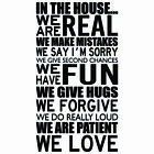 Living Room House Rules Love Home Decal Vinyl Wall Mural Decor Sticker