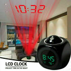 Digital Projection Alarm Clock Voice Talking LED With Temperature LCD Display