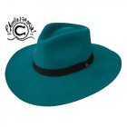 CHARLIE 1 HORSE ~ Highway ~ TURQUOISE ~ Women's Wool Western Hat w/ Feather