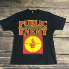 Rare! 80s Public Enemy T-shirt Rap Screen Stars Tee Size S to 4XL PP568 image