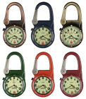Entino Carabiner Clip on Sturdy FOB Watches Sports Hikers Doctors Military Style