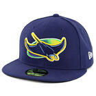 New Era 59Fifty Tampa Bay Rays ALT Fitted Hat (Light Navy) MLB Cap on Ebay