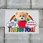 Teddy Bear Trail Rainbow Window Sticker Thank You Nhs Key Workers Charity Decal