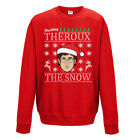 Louis Theroux Jumper - Dashing Snow Reindeer Funny - Adults & Kids Size - Red