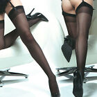 Coquette Thigh High Sheer Back Seam Stockings - Reg and Plus Sizes