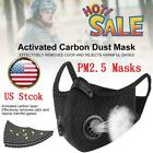 Face Masks Shield Activated PM2.5 Filter Cover Mouth Filter Carbon Layer US