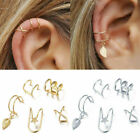5Pcs Ear Cuff Clip On Earrings Fake Cartilage Earring Unisex Non-Piercing 2021