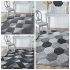 NEW DESIGN Quality Silver Grey Small Large Rug Modern Cheap Living Room Free P&P