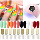 10Pcs/Set BORN PRETTY UV Gel Polish 54W UV LED Lamp Nail Dryer Gel Varnish Kit