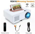 Mini Projector 2800 Lumens For Full HD 1080p Wireless Sync Display For Phone LED