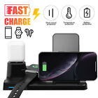 10W Qi Wireless Charger Stand 3in1 Fast Charging Dock Station For Phone/Watch US