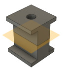 Solar Panel Strut Mount Block