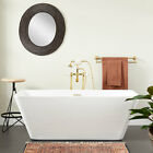 "Signature Hardware 70"" Laxson Acrylic Freestanding Bathtub"