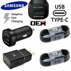 For OEM Samsung Galaxy S10 S9 S8 Plus Note8 Fast Wall Charger USB C Type-C Cable