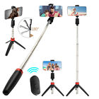 Extendable Selfie Stick Monopod Tripod Bluetooth Wireless Remote For Cell Phone